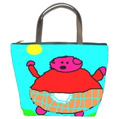 Sweet Pig Knoremans, Art By Kids Bucket Handbag