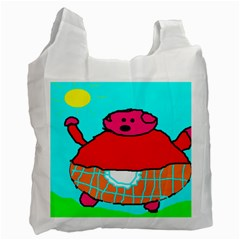 Sweet Pig Knoremans, Art By Kids White Reusable Bag (two Sides)