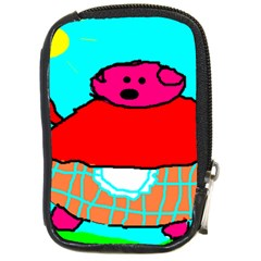 Sweet Pig Knoremans, Art By Kids Compact Camera Leather Case