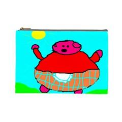 Sweet Pig Knoremans, Art By Kids Cosmetic Bag (large)