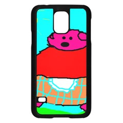 Sweet Pig Knoremans, Art by Kids Samsung Galaxy S5 Case (Black)