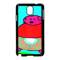 Sweet Pig Knoremans, Art by Kids Samsung Galaxy Note 3 Neo Hardshell Case (Black)