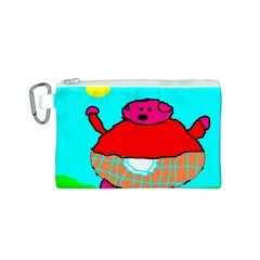 Sweet Pig Knoremans, Art by Kids Canvas Cosmetic Bag (Small)