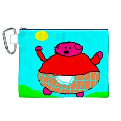 Sweet Pig Knoremans, Art by Kids Canvas Cosmetic Bag (XL)