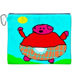 Sweet Pig Knoremans, Art by Kids Canvas Cosmetic Bag (XXXL)