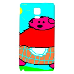 Sweet Pig Knoremans, Art by Kids Samsung Note 4 Hardshell Back Case