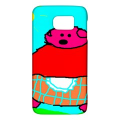 Sweet Pig Knoremans, Art by Kids Samsung Galaxy S6 Hardshell Case