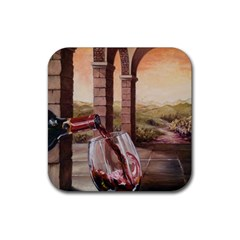 Wine In Tuscany Drink Coasters 4 Pack (square)