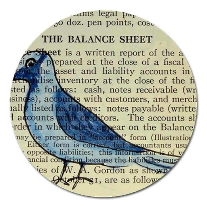 Bird Magnet 5  (Round)