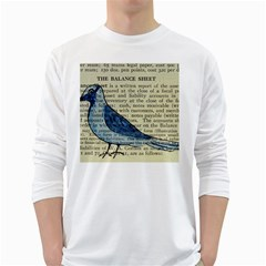 Bird Men s Long Sleeve T Shirt (white)