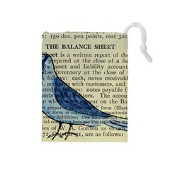 Bird Drawstring Pouch (medium)