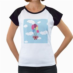 Balloons Women s Cap Sleeve T Shirt (white)