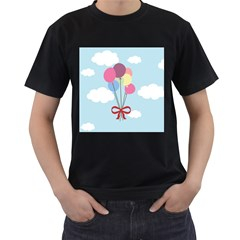 Balloons Men s Two Sided T-shirt (Black)