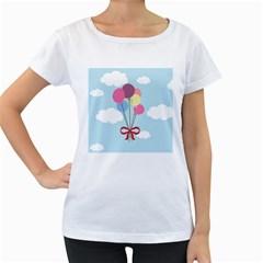 Balloons Women s Loose-Fit T-Shirt (White)