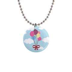 Balloons Button Necklace