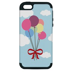 Balloons Apple Iphone 5 Hardshell Case (pc+silicone)