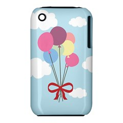 Balloons Apple Iphone 3g/3gs Hardshell Case (pc+silicone)