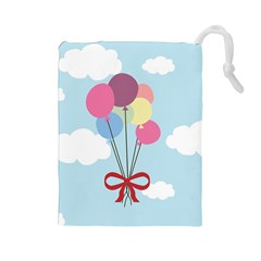Balloons Drawstring Pouch (Large)