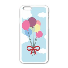 Balloons Apple iPhone 6 White Enamel Case
