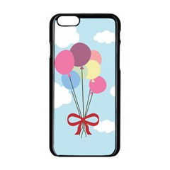 Balloons Apple Iphone 6 Black Enamel Case