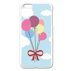 Balloons Apple iPhone 6 Plus Enamel White Case