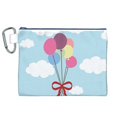Balloons Canvas Cosmetic Bag (XL)