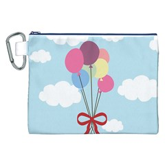 Balloons Canvas Cosmetic Bag (XXL)