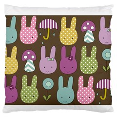 Bunny  Standard Flano Cushion Case (One Side)