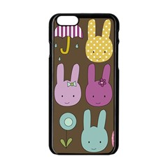 Bunny  Apple iPhone 6 Black Enamel Case