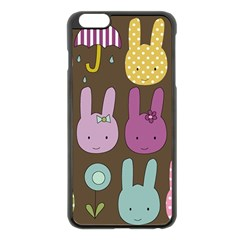 Bunny  Apple iPhone 6 Plus Black Enamel Case
