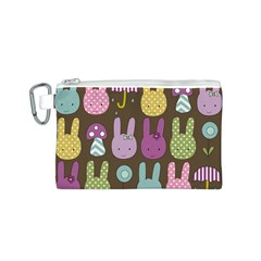 Bunny  Canvas Cosmetic Bag (Small)