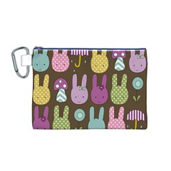 Bunny  Canvas Cosmetic Bag (Medium)