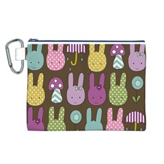 Bunny  Canvas Cosmetic Bag (Large)