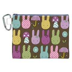 Bunny  Canvas Cosmetic Bag (XXL)
