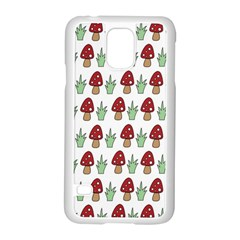 Mushrooms Samsung Galaxy S5 Case (White)