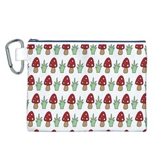 Mushrooms Canvas Cosmetic Bag (Large)