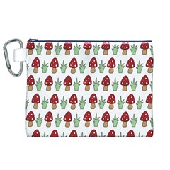 Mushrooms Canvas Cosmetic Bag (XL)