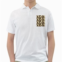 Donuts Men s Polo Shirt (White)