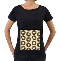 Donuts Women s Loose-Fit T-Shirt (Black)