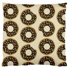 Donuts Large Flano Cushion Case (Two Sides)