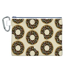 Donuts Canvas Cosmetic Bag (Large)
