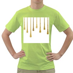 Gold Glitter Paint Men s T Shirt (green)
