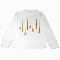 Gold Glitter Paint Kids Long Sleeve T-Shirt
