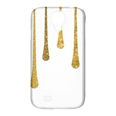 Gold Glitter Paint Samsung Galaxy S4 Classic Hardshell Case (pc+silicone)