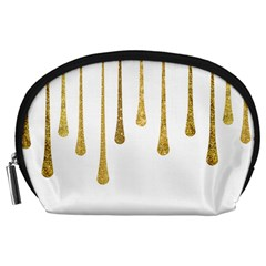 Gold Glitter Paint Accessory Pouch (large)