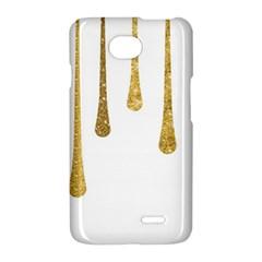 Gold Glitter Paint LG Optimus L70 Hardshell Case