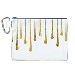 Gold Glitter Paint Canvas Cosmetic Bag (XL)