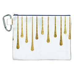 Gold Glitter Paint Canvas Cosmetic Bag (XXL)