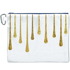 Gold Glitter Paint Canvas Cosmetic Bag (XXXL)