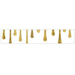 Gold Glitter Paint Flano Scarf (Large)
